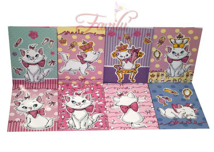 Disney Marie quaderno maxi A/4 Varie rigature novita scuola 2014 - 2015