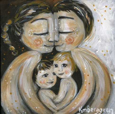 Family <3  Painting by Katie M. Berggren