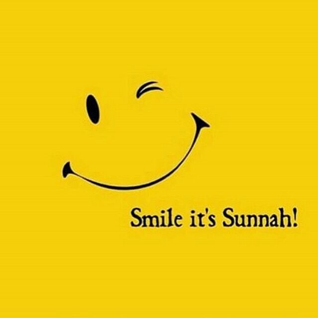 Not only is smiling #Sunnah, it's a #charity and it also makes you and those around you #happy.