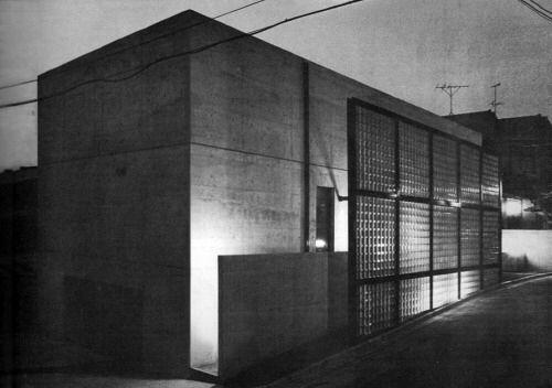OfHouses 378. Tadao Ando /// Glass Block Wall (Horiuchi House) /// Tezukayama, Osaka, Japan /// 1977-78