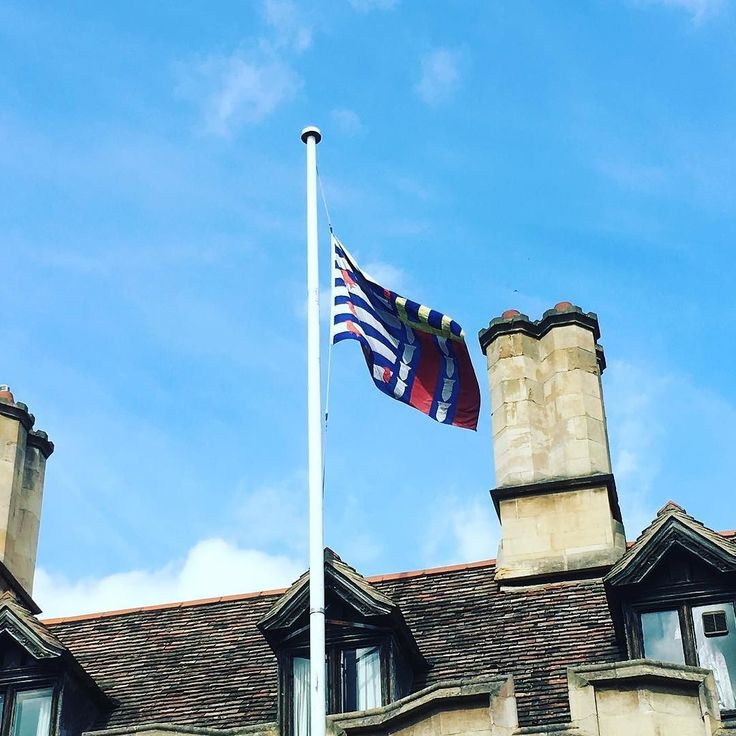 The flag is at half mast today to mark the anniversary of the death of Jo Cox