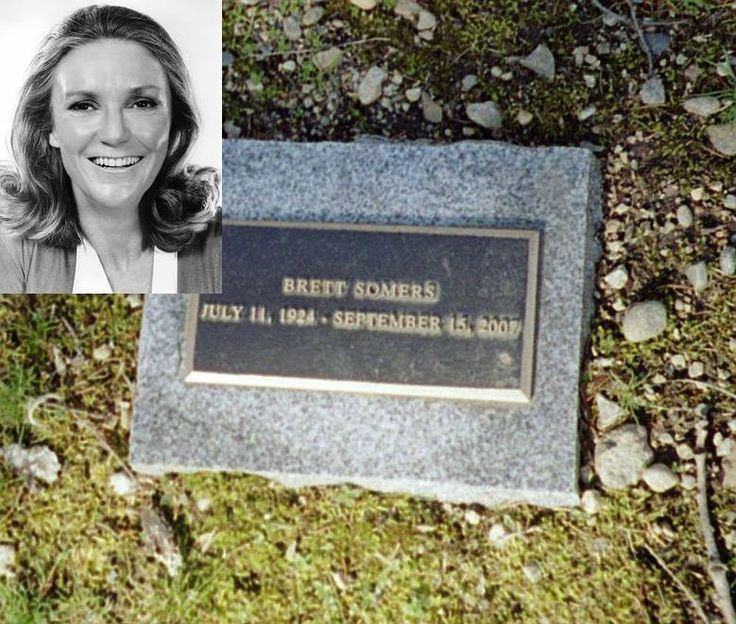 Brett Somers (July 11, 1924 – September 15, 2007) She was best known as a panelist on the 1970's game show Match Game and for her recurring role as Blanche Madison opposite her real-life husband, Jack Klugman, on The Odd Couple. Somers eventually was diagnosed with cancer in 2004, and, following a period of remission, she died on September 15, 2007, at her home in Westport, Connecticut at age 83. She is interred at Memorial Garden of The Unitarian Church in Westport, CT.
