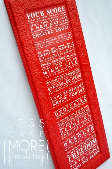 The Gettysburg Address!!! Love Typography.