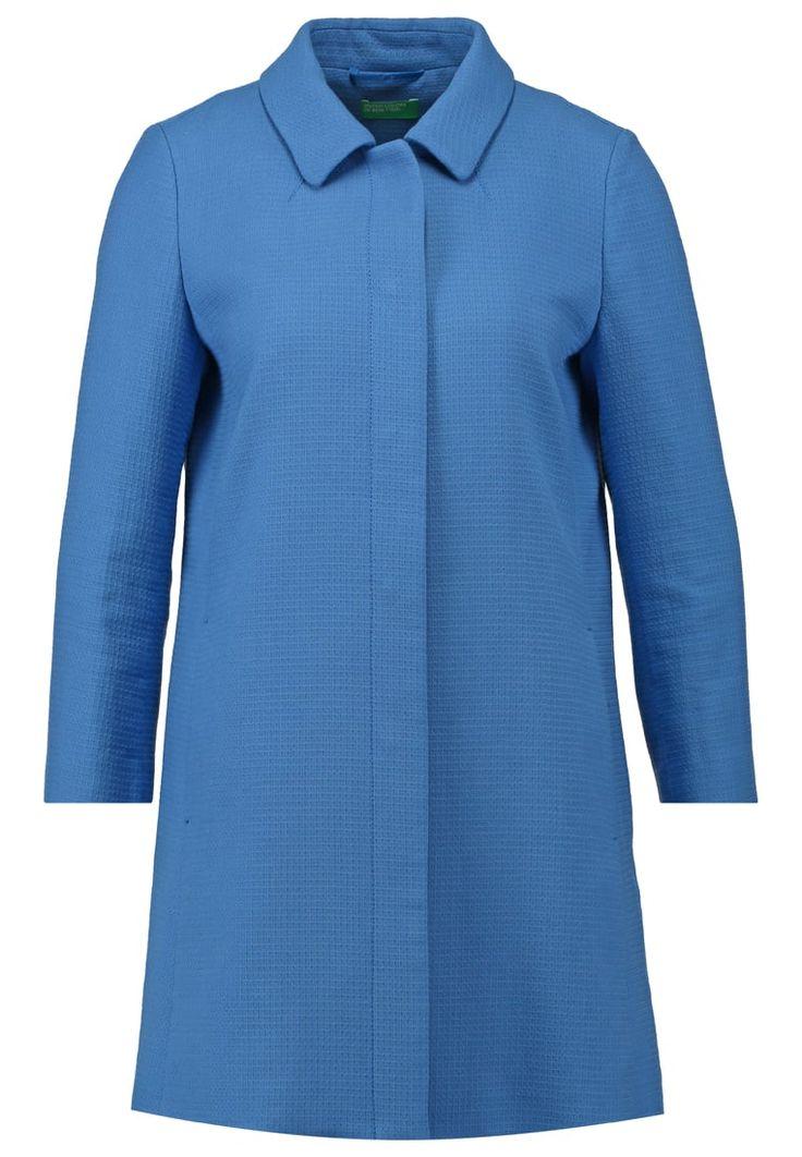 Benetton Krótki płaszcz blue