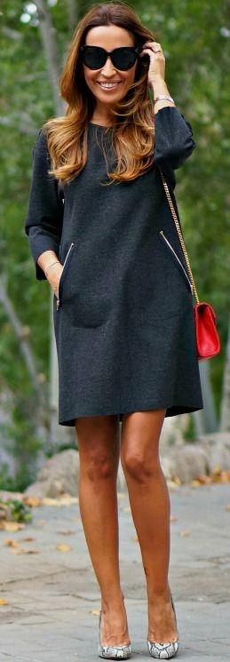 HEELS WITH TWO: GREY DRESS #heels