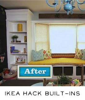 Bay Window Transformation Into Seat Reading Area Library Diy Ikea Hack Builtins Pinterest And Built In Shelves