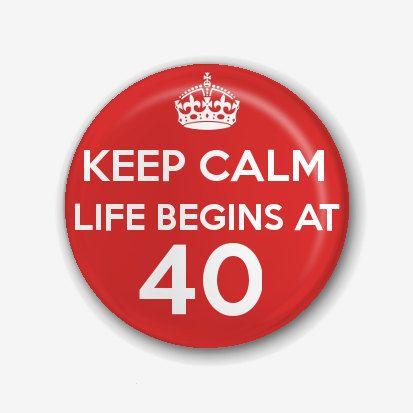 Keep Calm Birthday Pin Badge/