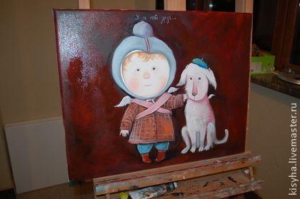 Копия Гапчинской Я И МОЙ ДРУГ - коричневый,гапчинская,собака,мальчик