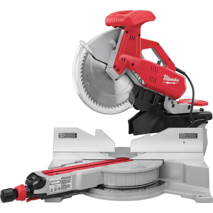 This Milwaukee dual-bevel sliding compound miter saw offers accuracy, power and ease of use.
