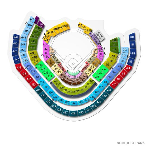 Guide to SunTrust Park Seating Chart #concerts #atl