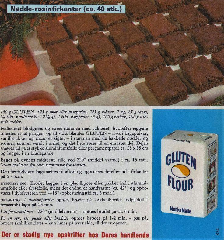 Nødde-rosinfirkanter ( ca. 40 stk. )...