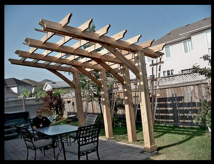 Similar Design Cantilevered Pergola Different Angle