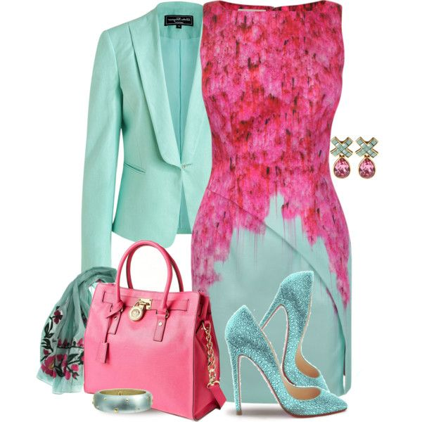 """Pink & Mint"" by yasminasdream on Polyvore"