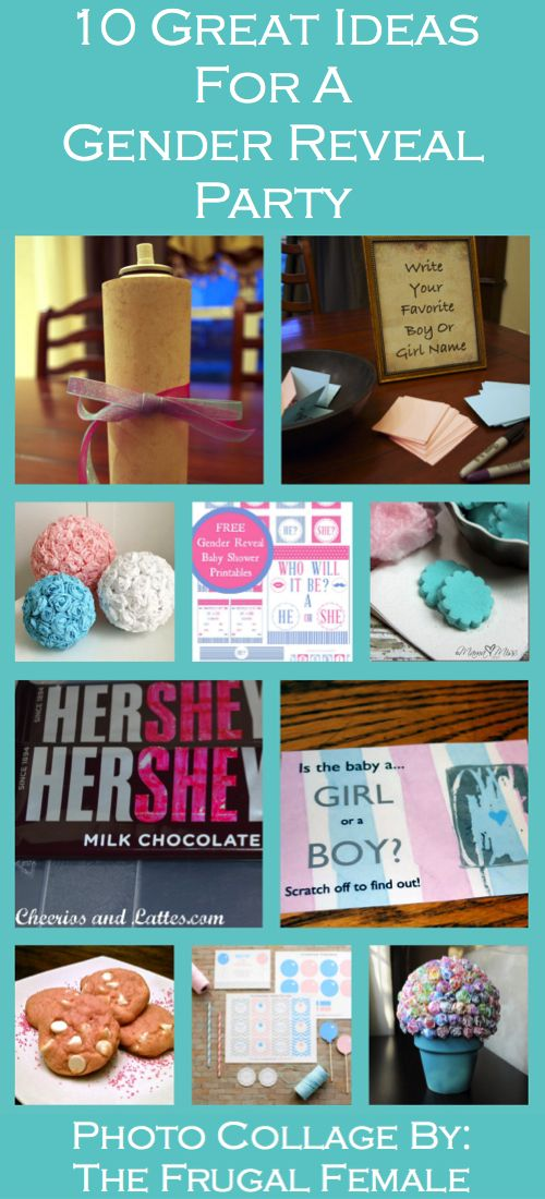 10 Great Gender Reveal Party Ideas - Just a note - I am NOT pregnant - Just a planner :)