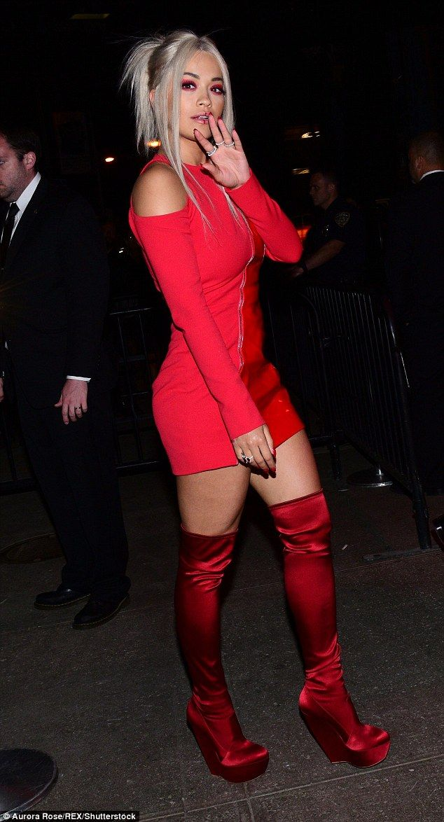 Bold beauty: Rita , looked red hot as she flaunted her incredible frame...