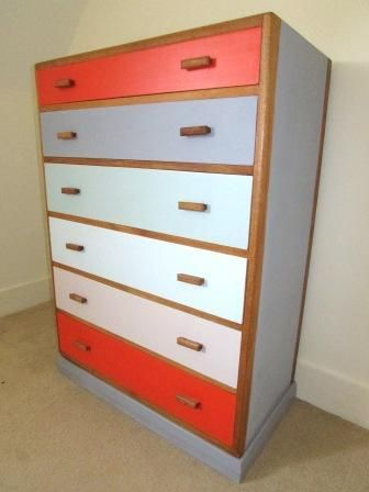 1950's Up cycled Vintage retro chest of drawers £149.00