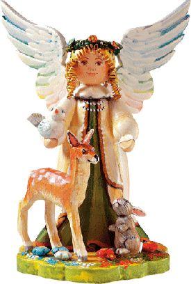 """Sammlerfiguren Jahresengel 2002 """"Schutzengel der Tierwelt"""""""