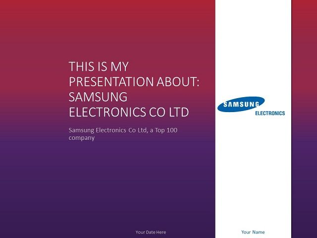 Samsung PowerPoint Template