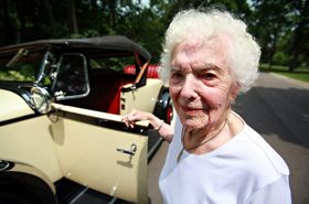 Margaret Dunning is 101. She has been driving for more than 90 years, albeit not always legally. The straight-8-powered 1930 Packard 740 roadster she's pictured with here is hers. It's 81 years old, and she has owned it since 1949. She still drives it -- drives it! at 101! -- and changes the oil and spark plugs herselfPackard 740, Years Old Packard, Classic Cars, Margaret Dunning 102, Cars Both Classic, 740 Roadster, People, 1930 Packard, Favorite Cars