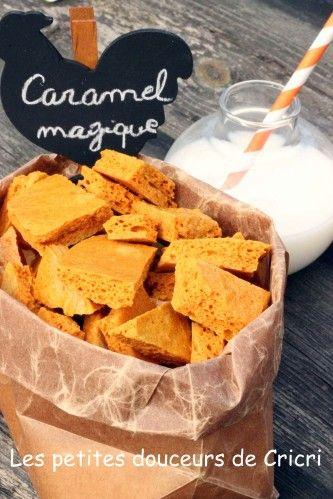 Caramel magique Ingrédients : 150 g de sucre semoule 2 CS de golden syrup à défaut du miel ou sirop d'érable 1,5 cc de bicarbonate de soude