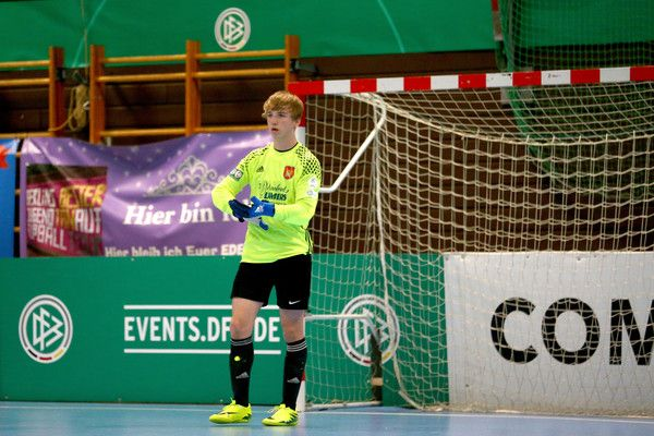 Kai Siewers Photos Photos - Kai Siewers of Brakel is seen during the second semi final C Juniors match between SpVg Brackel and SC Fortuna Koeln 0-2 during the B and C Juniors German Indoor Football Championship at Sporthalle West on March 26, 2017 in Gevelsberg, Germany. - B And C Juniors German Indoor Football Championship