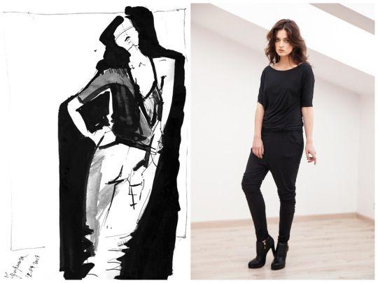 Fashion illustration of Elena Ciuprina Spring 2015 collection  Available on http://elenaciuprina.com/collections/all