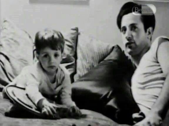 Me at two and my father