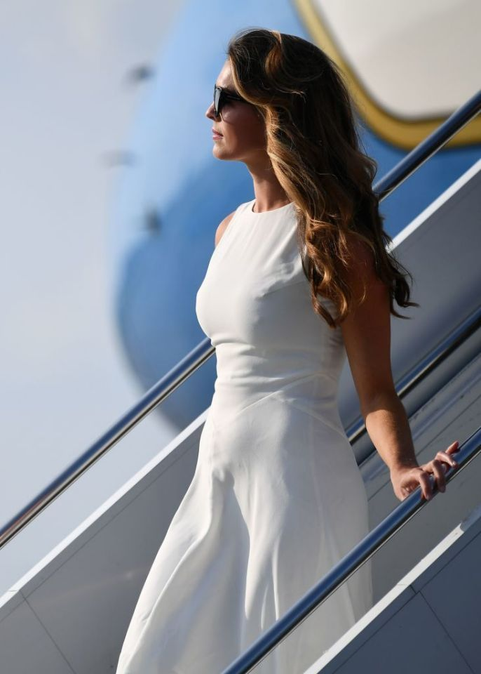 Hope Hickss Air Force One look seems like its straight from Melania Trumps closet