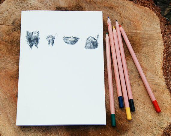Just Beards vintage design A5 sketchbook