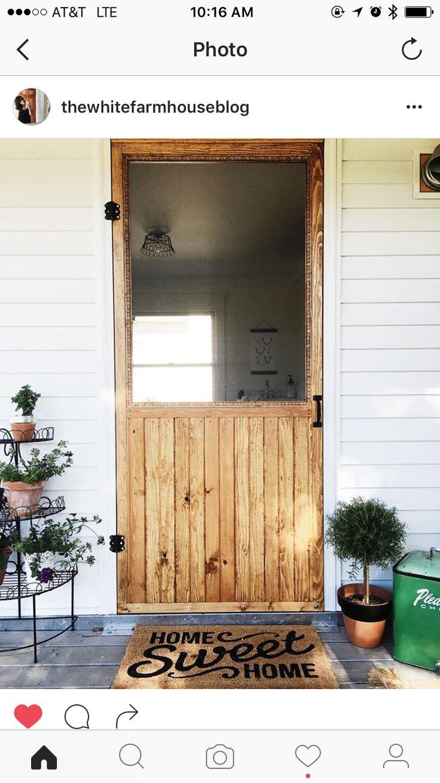 Front door decor for all seasons - Diy Screen Door