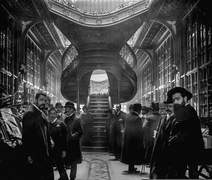 """onceuponatown: """" Porto, Portugal. The Lello & Irmão bookstore, 1906. Still standing, the Livraria Lello is a wonderful, Insane collision of Art Nouveau and Gothic Revival. """""""