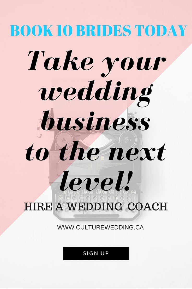 How to get into the wedding planning business