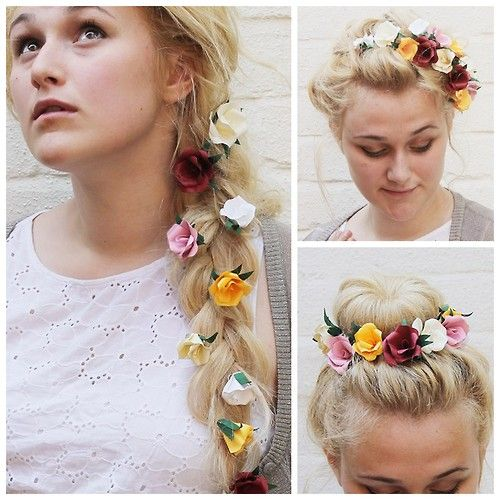 DIY Paper Flowers for Your Hair Tutorial from Now That's...