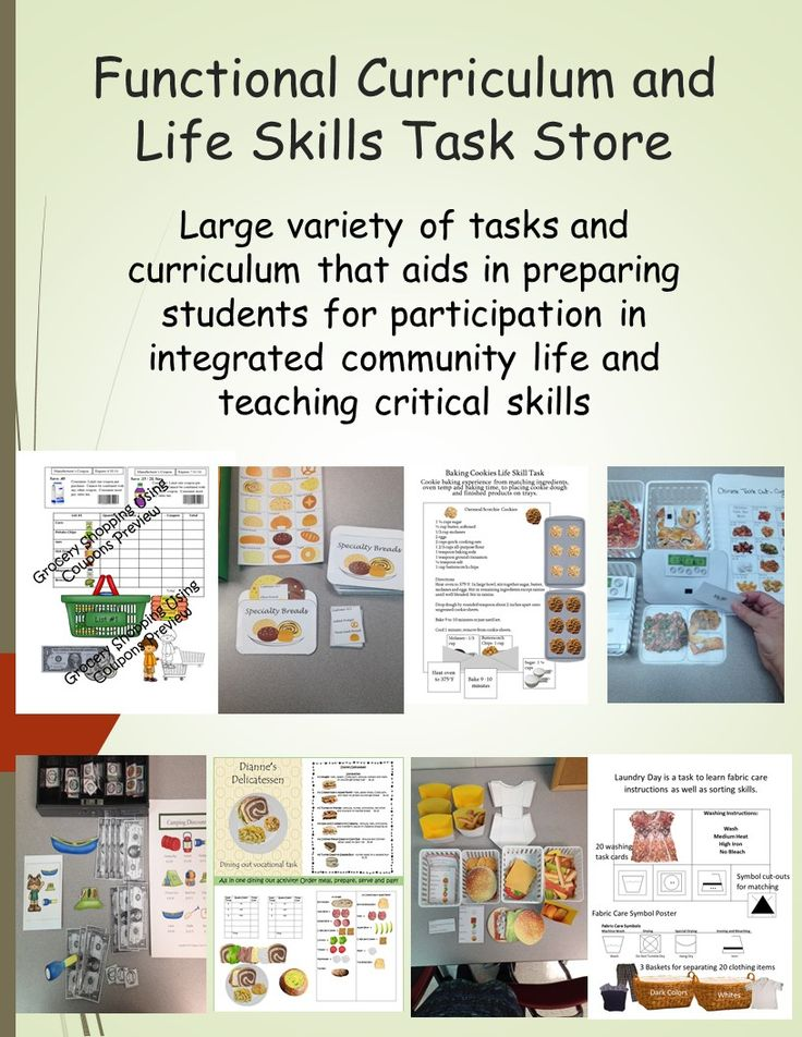 17 best life skills lessons images on Pinterest | Autism classroom ...