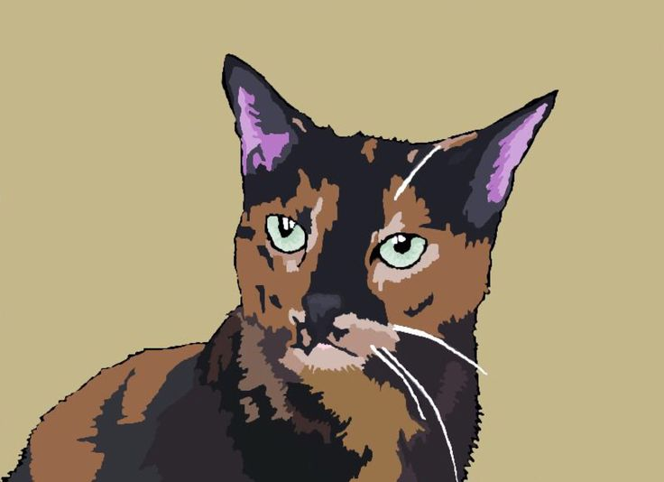 Topsy my cat; drawing by ArtWolf
