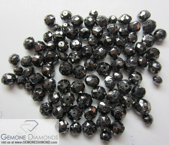 PRODUCT: NATURAL DIAMOND BEADS NECKLACE COLOR : JET BLACK SIZE: 1.2MM TO 4 MM LENGTH: 16 INCH TO 20 INCH WEIGHT: 12 CARAT TO 50 CARAT   Price for Beads is USD 24 to USD 50 per carat depending on the quality and size.    PRICE PER NECKLACE STARTING FROM USD 250 AND MORE (12 carats and more sizes) ANY SIZE, COLOR, CLARITY,SHAPE REQUIREMENT FOR OUR DIAMONDS AND OTHER PRODUCTS ARE MOST WELCOMED