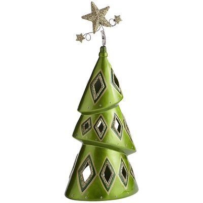 Christmas Tree Tealight Holder  This just makes me smile.