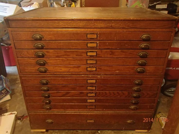 vintage wooden flat files 2