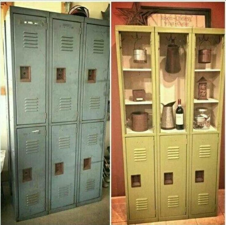Best 25 repurposed lockers ideas on pinterest school for Repurposed metal furniture