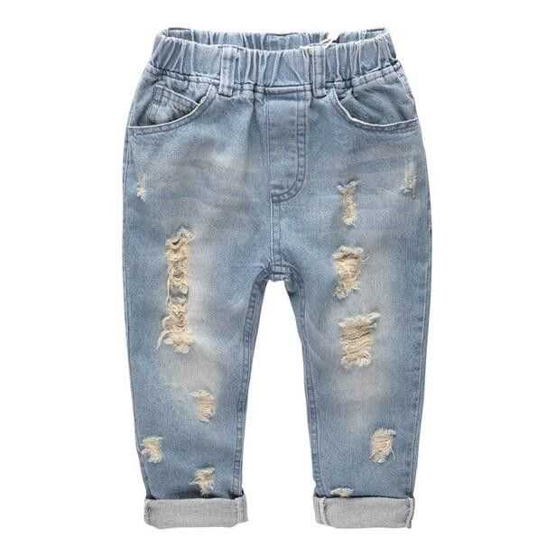 Fashion Denim Pants Boys Ripped Jeans 2-14 Yrs Baby Boys Jeans Kids Clothes Cotton Casual Children's Jeans Kids Trousers -- Read more details by clicking on the image. #LatestBabyClothes