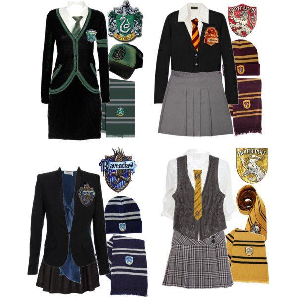 """Hogwarts Uniforms"" by ser-rena01 on Polyvore"