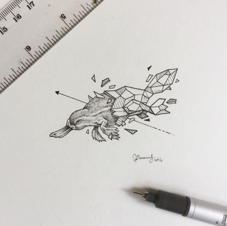 ornitorrinco ideas de disenos de tatuajes de animales