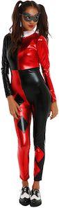 Metallic Harley Quinn Catsuit Costume