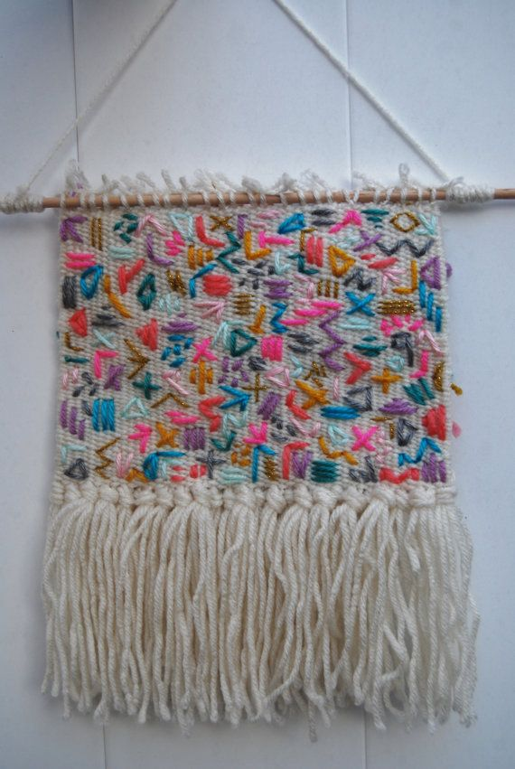 Wall Hanging / Wall Weaving / Wall Tapestry by LittleRaeShoppe