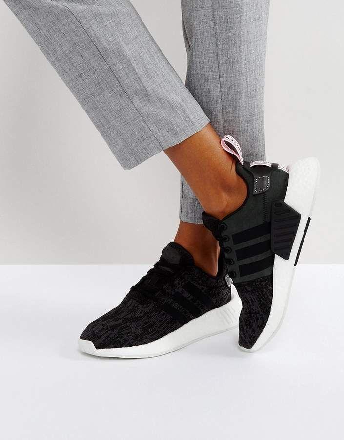 best loved 7f8e3 33961 adidas Originals NMD R2 Sneakers In Black | Women's Sneakers ...