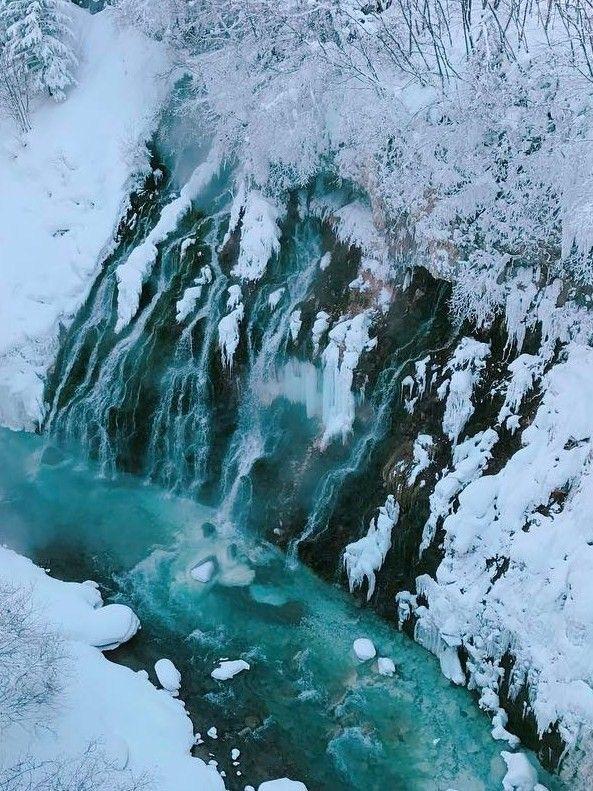 Shirahige Waterfall & Blue River, Biei, Hokkaido, Japan