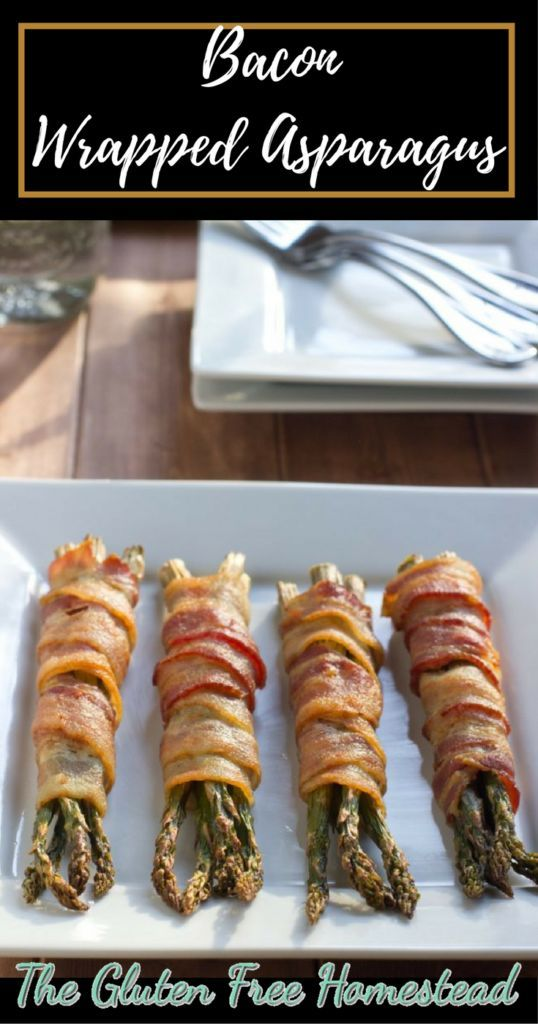 Click the pin for step by step recipe & tips | Delicious bacon wrapped asparagus | gluten free recipe | paleo recipe | low carb | appetizer | oven baked | veggies | vegetable side dish