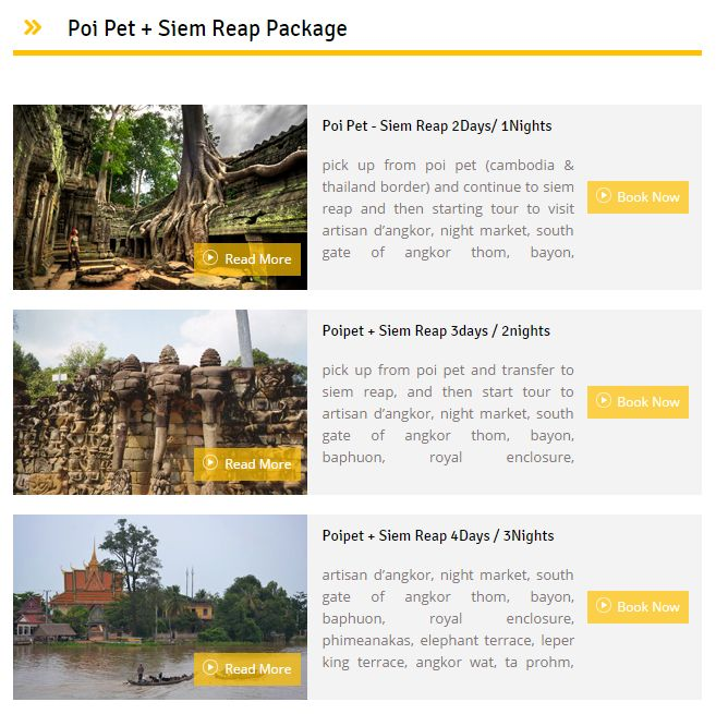 Are you planning for a Trip in #SiemReap and #PoiPet? We provide best price for #TourPackage and Customized Tour on Demand.