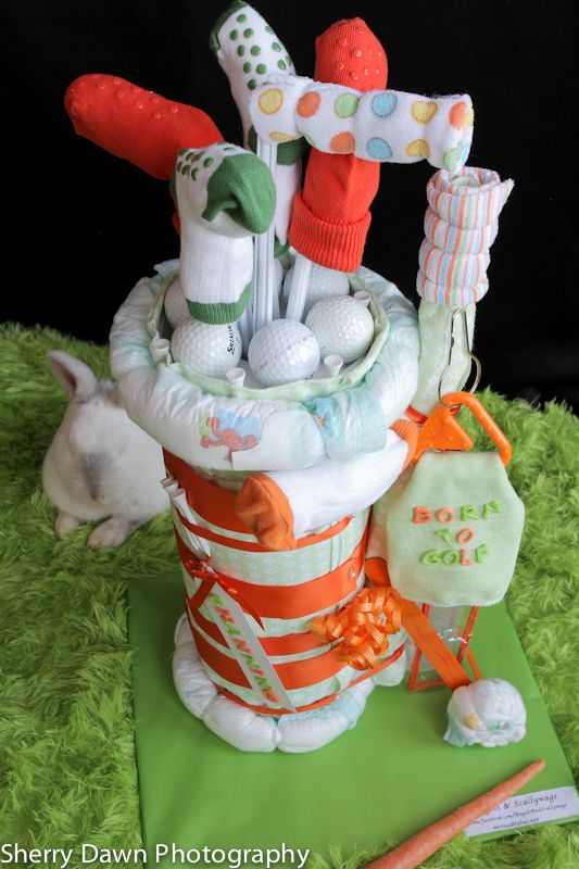 Golf Caddy Diaper Cake  Facebook Com
