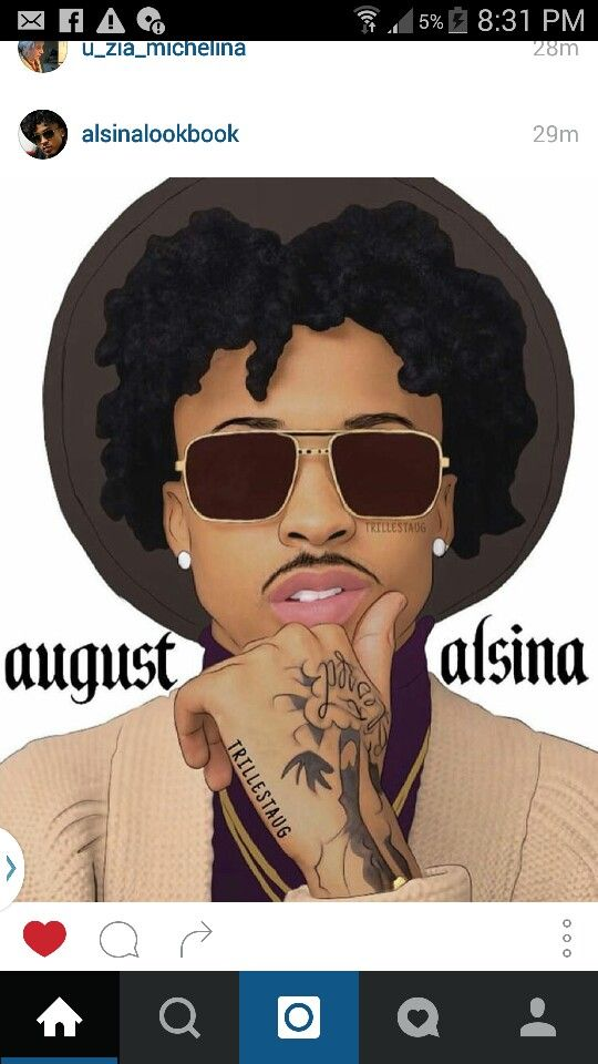 August Alsina painting